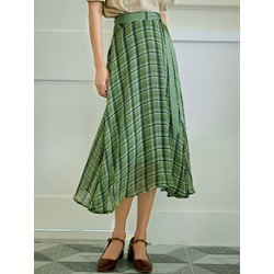 A-Line Plaid Print Country Women's Skirt