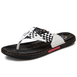 Shoespie Men's Woven Summer Slippers