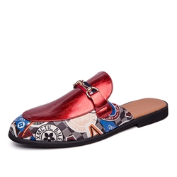 Shoespie Men's Print Flat Pointed Toe Slippers