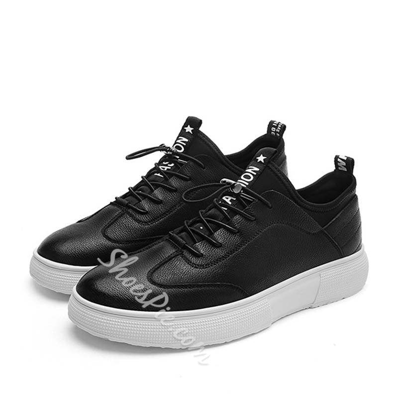 Shoespie Low-Cut Upper Lace-Up Color Block Round Toe Skate Shoes