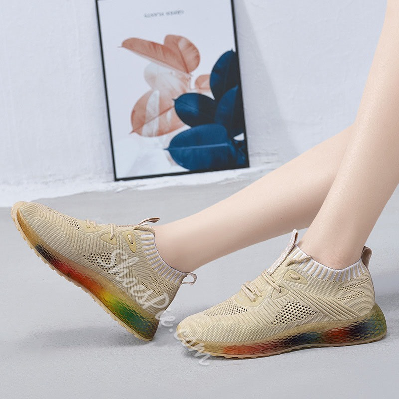 Shoespie Breathable Lace-Up Sport Sneakers
