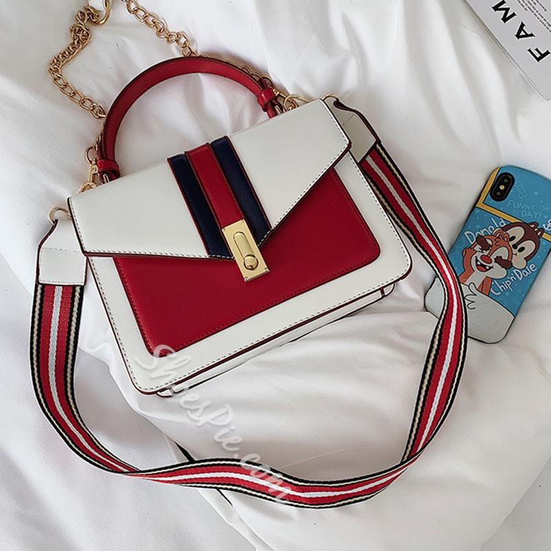 Shoespie Lock PU Crossbody Bags