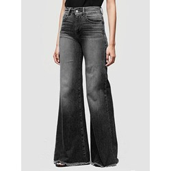 Plain Wide Legs Loose Slim Women's Jeans