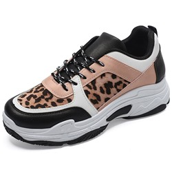 Shoespie Leopard Chunky Casual Sneakers