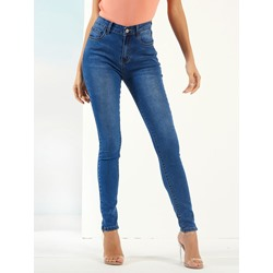 Plain Pencil Pants Skinny Women's Jeans