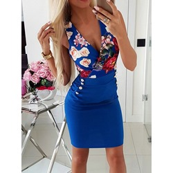 Pocket Sleeveless Above Knee Women's Bodycon Dress