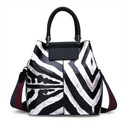Shoespie PU Print Barrel-Shaped Tote Bags