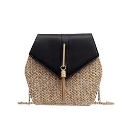 Shoespie Grass Color Block Crossbody Bags