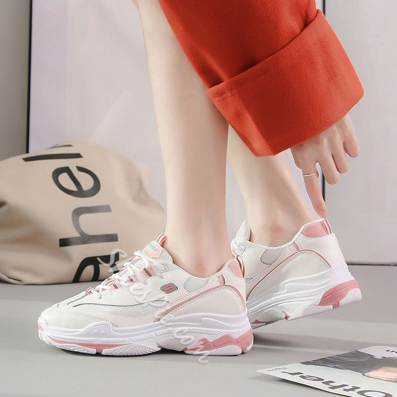 Shoespie Chunky Color Block Sneakers