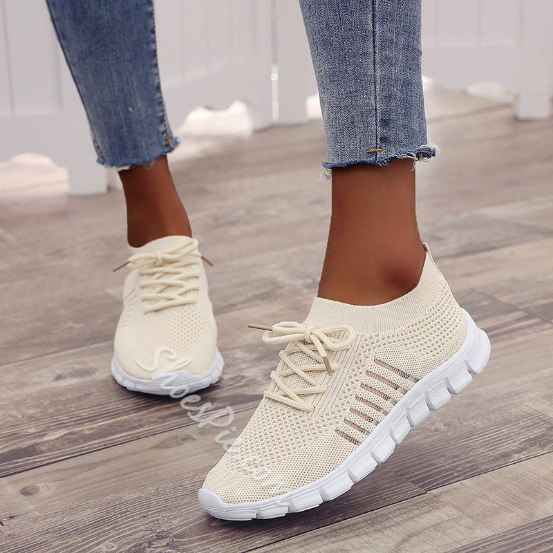 Shoespie Mesh Lace Up Sport Sneakers