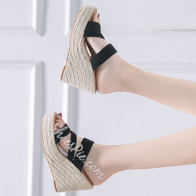 Shoespie Wedge Heel Slip-On Summer Slippers
