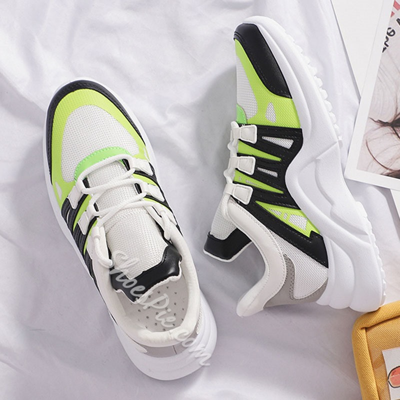 Shoespie Chunky Breathable PU Sneakers