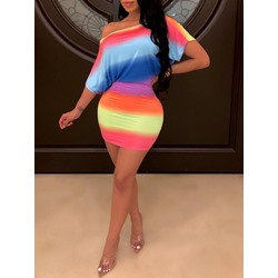 Short Sleeve Above Knee Women's Bodycon Dress