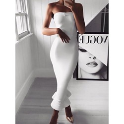 Mid-Calf Sleeveless Women's Bodycon Dress