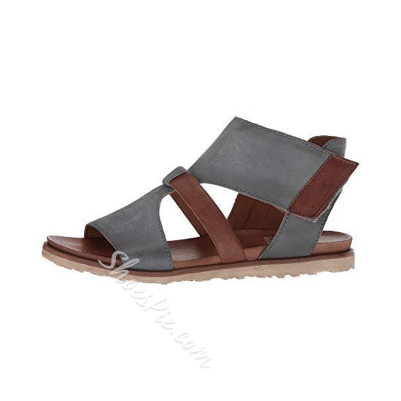 Shoespie Trendy Zipper Open Toe Casual Sandals