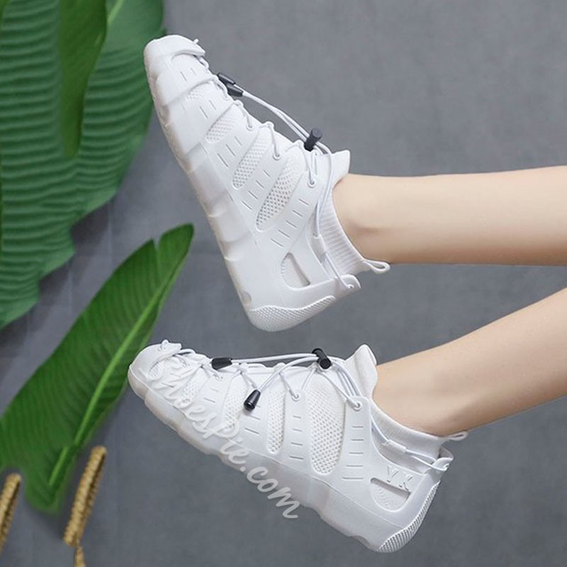 Shoespie Mesh Lace Up Sneakers
