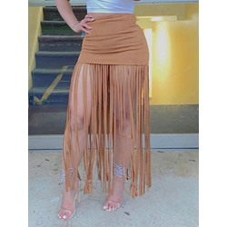 Plain Ankle-Length Bodycon High Waist Women's Skirt