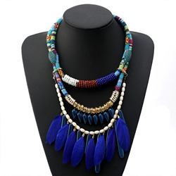 Feather Ethnic E-Plating Women Necklaces