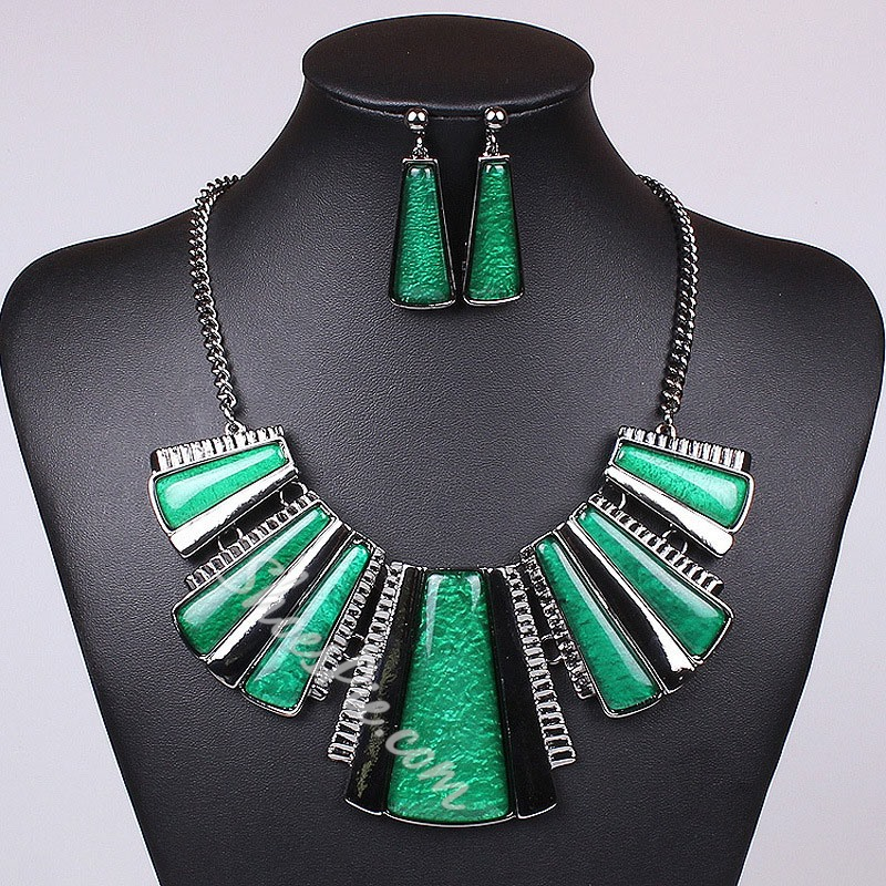 E-Plating Necklace Vintage Wedding Jewelry Sets