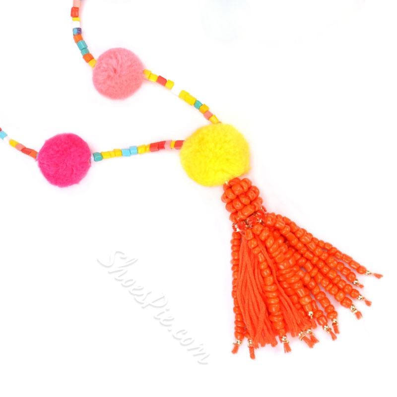 Tassel Necklace Bohemian Holiday Jewelry Sets