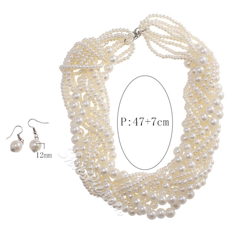 Plain Earrings European Wedding Jewelry Sets