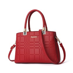 Shoespie Plaid PU Tote Casual Bags
