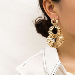 Plain E-Plating Alloy Anniversary Earrings