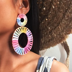 Handmade European Color Block Party Earrings