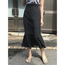 Polka Dots Mid-Calf Mermaid Sweet Women's Skirt