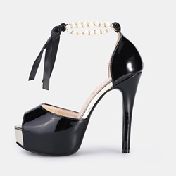 Shoespie Bow Stiletto Heel Peep Toe Platform Sandals