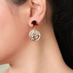 Figure E-Plating Alloy Anniversary Earrings