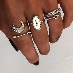 Alloy Vintage E-Plating Birthday Rings