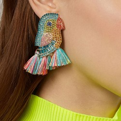 Animal Alloy Ethnic Anniversary Earrings