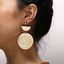 Alloy Plain Vintage Holiday Earrings