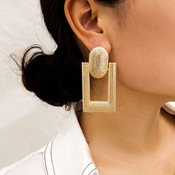 Alloy Plain European Holiday Earrings