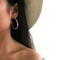 Plain E-Plating Alloy Western Earrings