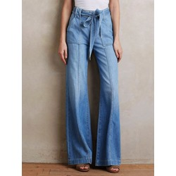 Plain Bellbottoms Loose Women's Jeans