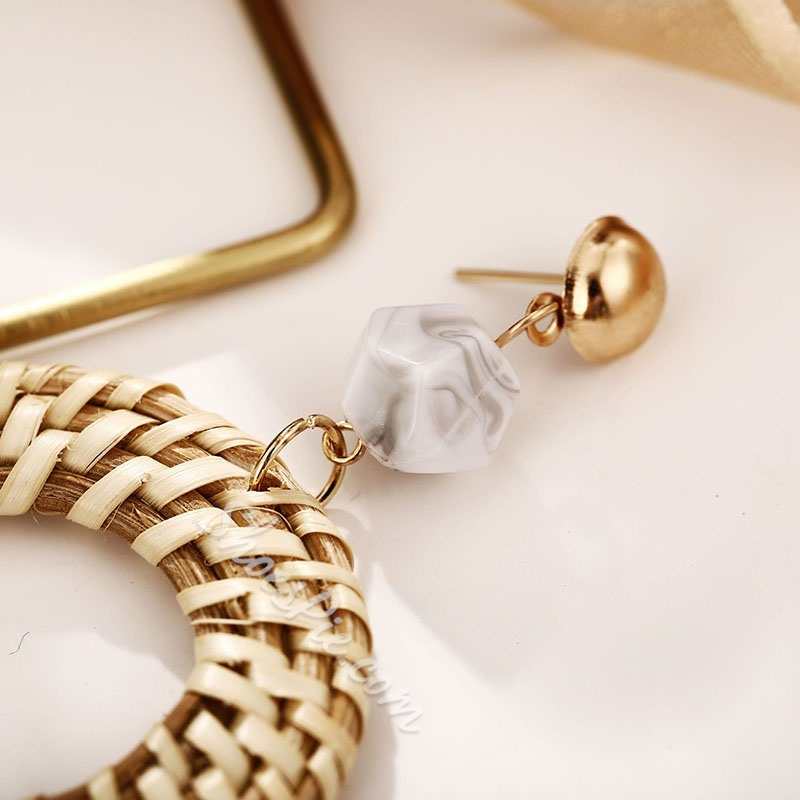 Woven Vintage Alloy Drop Earrings