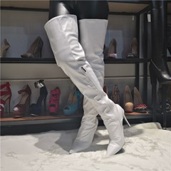 Shoespie Trendy Side Zipper Pointed Toe Boots