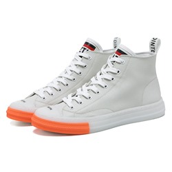 Shoespie Color Block Lace-Up Round Toe Skate Shoes