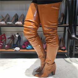 Shoespie Sexy Pointed Toe Side Zipper Boots