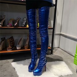 Shoespie Trendy Round Toe Side Zipper Rivet Boots