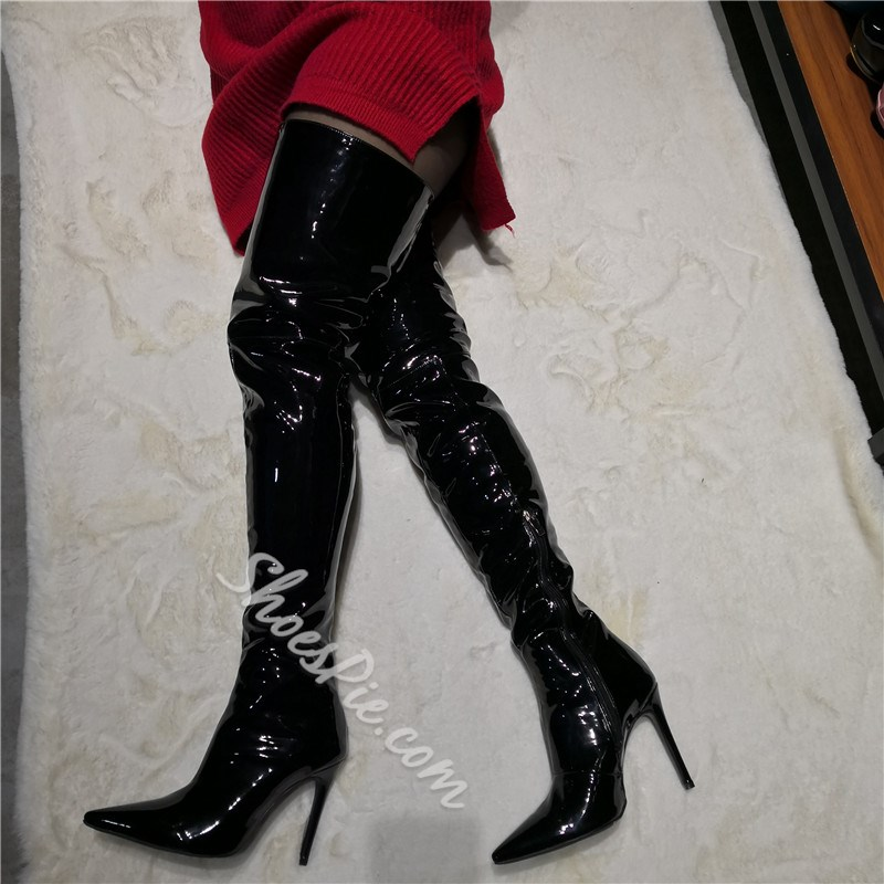 Shoespie Stylish Pointed Toe Side Zipper Boots