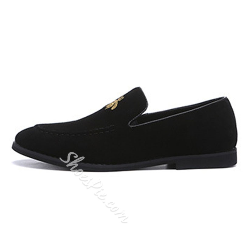 Shoespie Men's Low-Cut Upper Slip-On Animal Microfiber Thin Shoes