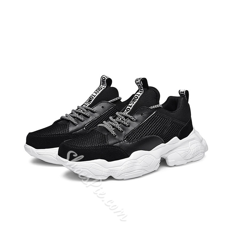 Shoespie Men's Sports Low-Cut Upper Lace-Up Sneakers
