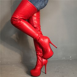 Shoespie Sexy Round Toe Side Zipper Boots