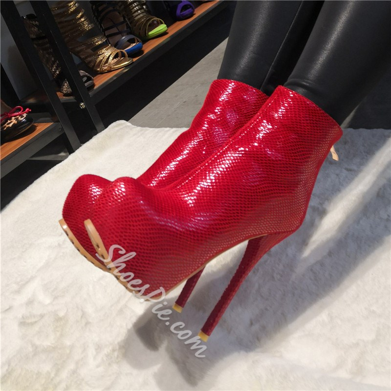 Shoespie Stylish Round Toe Side Zipper Boots