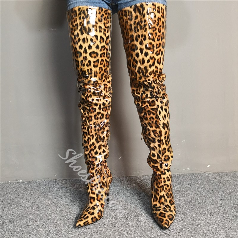 Shoespie Sexy Side Zipper Pointed Toe Boots