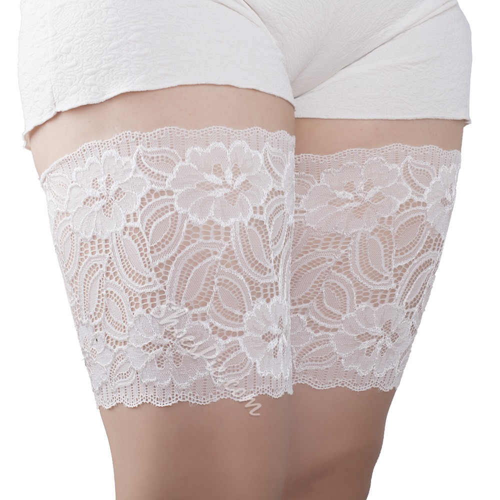 Women Floral Lace Thigh Bands Sexy Socks