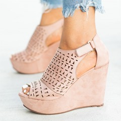 Shoespie Trendy Velcro Wedge Heel Sandals